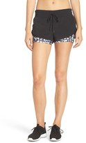 Zella Women's 'Twice As Nice' Layered Shorts