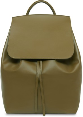 Mansur Gavriel Large Calf Backpack - Olive
