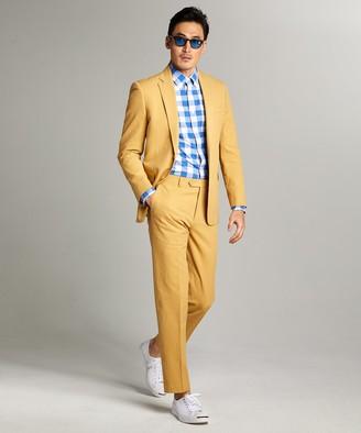 Todd Snyder Sutton Seersucker Suit Jacket in Mustard
