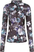 adidas by Stella McCartney Black Floral Zip Hooded Top