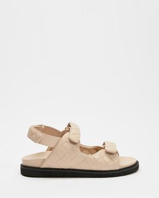 Billini - Women's Neutrals Flat Sandals - Zora - Size 5 at The Iconic
