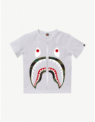 A Bathing Ape Camo Shark cotton T-shirt 4-10 years