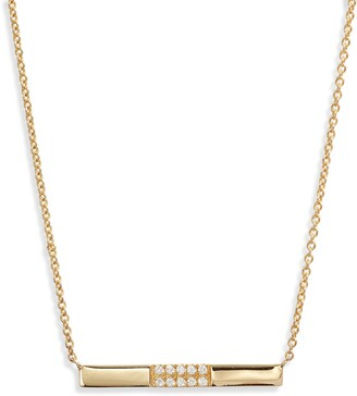 Bony Levy Diamond Bar Pendant Necklace