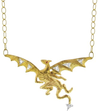 Cathy Waterman Dragon Yellow Gold Necklace