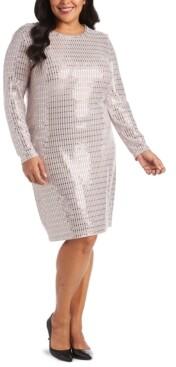 Morgan & Company Trendy Plus Size Metallic Bodycon Dress
