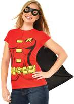 Rubie's Costume Co Costume Co Women's Dc Comics Robin T-Shirt with Cape and Eye Mask