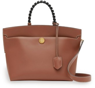Burberry Small Leather Society Top-Handle Bag