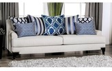 "Munire Chenille 91"" Recessed Arm Sofa Red Barrel Studio Fabric: Light Gray"