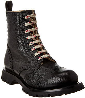 Gucci Brogue Lace-Up Leather Boot