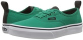 Vans Kids Authentic Elastic Lace Ultramarine Green/Pirate Black) Boys Shoes