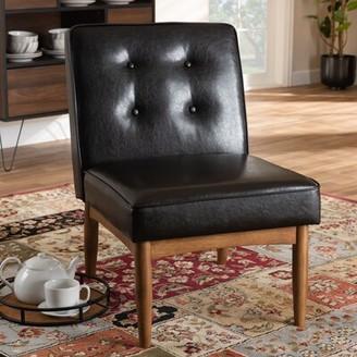 Bopp Tufted Side Chair in Dark Brown Corrigan Studio