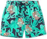 Vilebrequin Moorea Mid-length Printed Swim Shorts - Navy