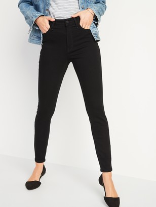 Old Navy High-Waisted Rockstar Built-In Warm Super Skinny Black Jeans for Women