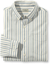 L.L. Bean Lakewashed Chambray Shirt, Single Pocket Long-Sleeve Slightly Fitted Stripe