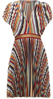 Missoni Striped Pleated-lame Mini Dress - Womens - Multi