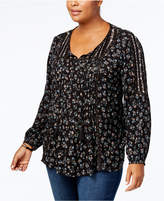 Style&Co. Style & Co Plus Size Pintucked Peasant Top, Created for Macy's