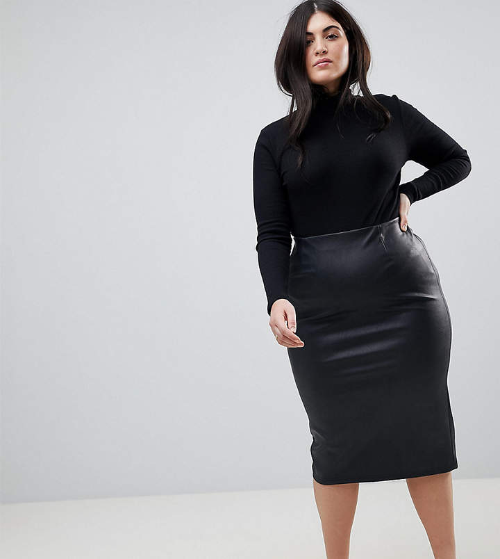 4b88585a44083f Plus Size Leather Skirt - ShopStyle