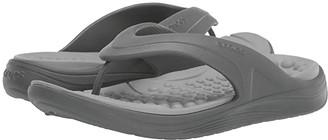 Crocs Reviva Flip (Black/Slate Grey) Sandals