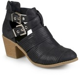 Journee Collection Women's Tiff Faux Leather Cut-Out Booties