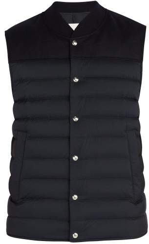 95918e584 Quilted Down Nylon And Wool Gilet - Mens - Navy