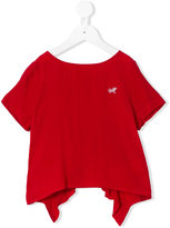 MonnaLisa pleated back top - kids - Viscose - 12 yrs