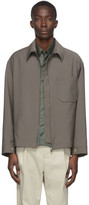 Deveaux New York Grey Wool Zip-Up Jacket