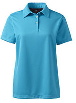 Lands' End Women's Regular Short Sleeve Active Pique Polo-Rich Red