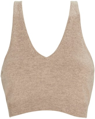 Frame Recycled Cashmere Cropped Tank Top