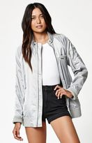 Members Only Washed Satin Bomber Jacket
