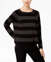 Eileen Fisher Silk-Blend Striped Raglan Sweater