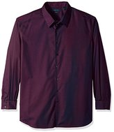 Perry Ellis Men's Big and Tall Solid Non Iron Shirt