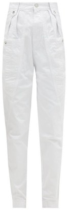 Isabel Marant Kerris High-rise Tapered-leg Jeans - White