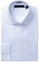 Tommy Hilfiger Polka Dot Trim Fit Dress Shirt