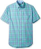 Izod Men's Big and Tall Advantage Performance Poplin Short Sleeve Shirt