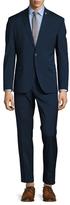 Nick Graham Tonic Blue Solid Notch Lapel Suit