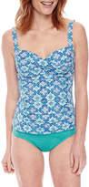 Liz Claiborne Medallion Tankini Swimsuit Top