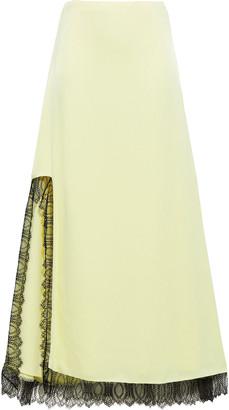 3.1 Phillip Lim Lace-trimmed Satin-crepe Maxi Skirt