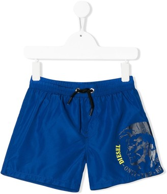 Diesel logo detail swim shorts
