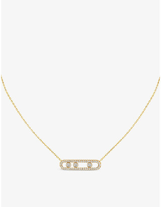 Messika Move Pave 18ct yellow-gold and diamond necklace