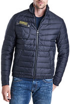 Barbour International Chain Quilted Baffle Jacket, Black