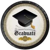 8ct Graduation Cap & Gown Paper Plates