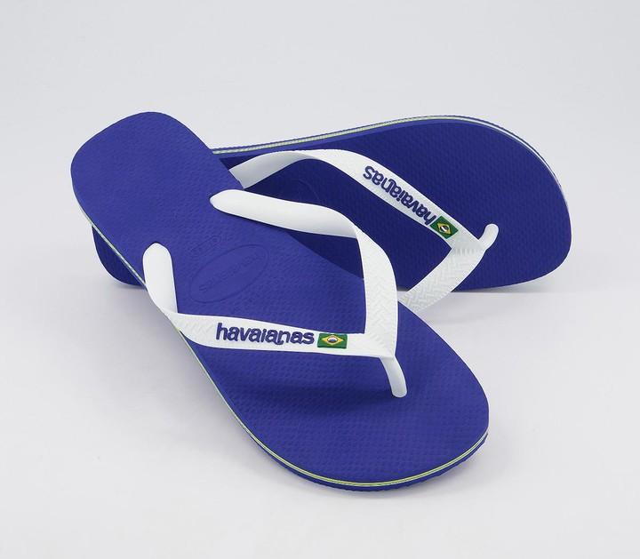 Thumbnail for your product : Havaianas Brasil Logo Flip Flops Blue