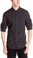 Calvin Klein Jeans Men's Deco Check Roll Up Sleeve Shirt