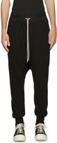 Rick Owens Black Prisoner Lounge Pants