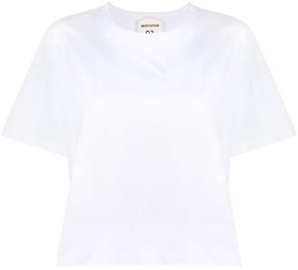 Semi-Couture upside-down logo T-shirt