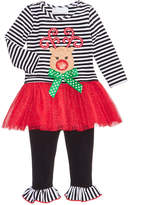 Bonnie Baby 2-Pc. Reindeer Tutu Dress and Leggings Set, Baby Girls