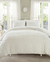 Madison Home USA Sabrina Full/Queen 3 Piece Tufted Cotton Chenille Duvet Cover Set Bedding
