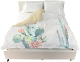 "Oliver Gal The Artist Co. Marble and Succulents"" Duvet Cover, King"