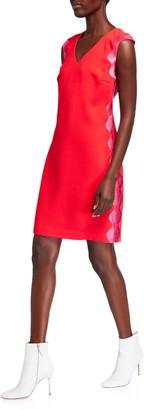 Trina Turk Enjoyable Scalloped-Side Dress