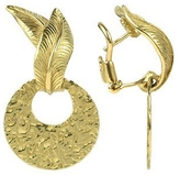 Torrini Victoria - 18K Yellow Gold Chiselled Earrings